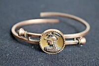 Antique Victorian Multicolor Gold Filled GF Joan of Arc Bypass Bracelet