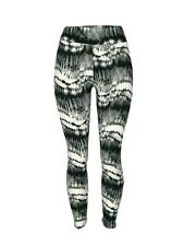 Black & White Tie Dye Black Bckgrn Tall & Curvy Yoga Waist TC Soft Free Shipping
