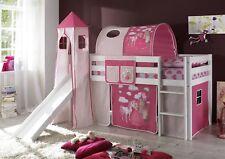 Stoff Set 4.tlg PRINZESSIN /PINK für Spielbett Hochbett Etagenbett