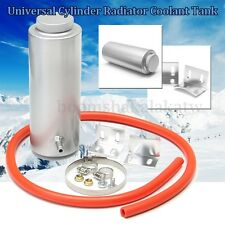 Aluminum 800ml Cylinder Radiator Overflow Reservoir Coolant Tank Universal Can