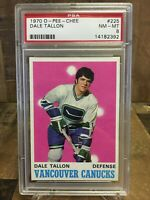 1970 O-Pee-Chee Hockey Dale Tallon #225 PSA 8 NM-MT