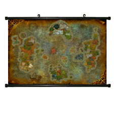 World of Warcraft MAP Chronicles Azeroth Game Scroll Painting Poster Map60*40cm