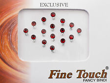 Bindi bijoux de peau front bollywood strass bordeaux 6mm dot tilak INH-2-A 1163
