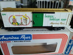 American Flyer #6-48309 1990 Seasons Greeting Boxcar, w/Box, Lot # 544