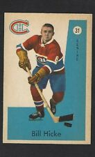 1959 Parkhurst #31 Bill Hicke RC, Vintage Montreal Canadiens NHL Hockey 1959-60