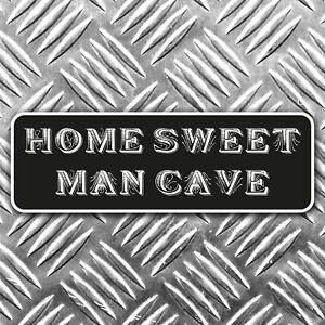 HOME SWEET MANCAVE bumper sticker garage - man cave 140mm wide