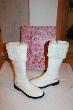 Lelli Kelly schönste weiße Lackleder-Stiefel Winter-Schuhe Gr 34-35  w Neu