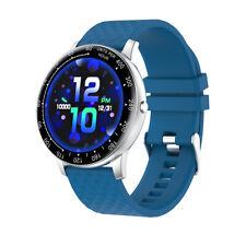 H30 Smart Watch 1.3inch Full Toch Smartwatch Waterproof Heart Rate Monitor Blue