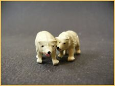 BF oursons blancs, Animaux du Zoo ou du Cirque, plomb creux (antique toys)