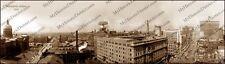 """Indianapolis, Indiana 1914 Historic Sepia Photo Reprint 5x17.5"""" FREE SHIPPING!"""