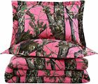 Chezmoi Collection Salem 3-Piece Forest Woods Comforter Set - Nature Camo Tree L