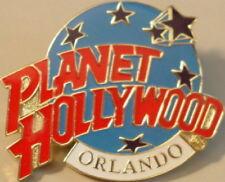 Planet Hollywood ORLANDO FL Classic Globe Red White & Light Blue Lapel PIN New!