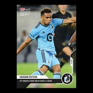14k FB No Cancel Hassani Dotson Minnesota United FC Topps Now 2021 Card #89
