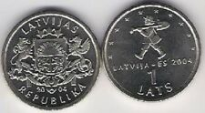Latvia 1 Lats 2004 Spriditis EU European Union Man KM 61 UNC