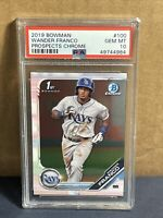 2019 Bowman Chrome Wander Franco PSA 10 Gem Mint Rays Rookie RC #100 Prospects