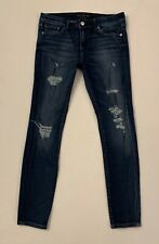 Abercrombie A&F Super Skinny Distressed High Waisted Blue Jeans W 28 x L 28 R