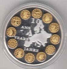 Médaille contemporaine Française les 10 ans de L'Euro