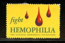 USA Health Charity Poster Stamp Fight Hemophilia