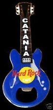 Hard Rock Cafe CATANIA Blue Bottle Opener Guitar Magnet