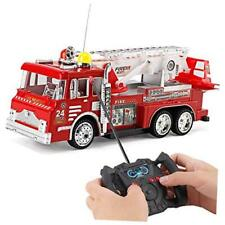 "10"" R/C Rescue Fire Engine Truck Remote Control Kids Toy with Extending Ladder &"