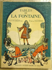 """Fables de La Fontaine"" illust R, de la Neziere. 1929. 16 superb colour plates."
