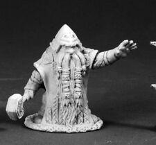 Grimm Dwarf Priest Reaper Miniatures Dark Heaven Legends Cleric Caster Melee RPG