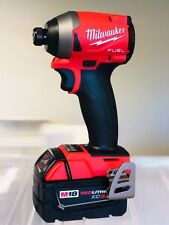 "Milwaukee 2853-20 M18 FUEL 1/4"" Hex Impact Driver New + (1) 3.0AH Battery"