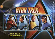 Maldives 2009 MNH Star Trek Spock Leonard Nimoy Captain Kirk 4v M/S I Stamps