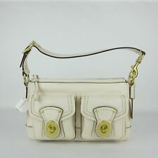"Coach Gardenia Beige Leather Vintage ""legacy"" Shoulder Handbag F12868 B4/GI"