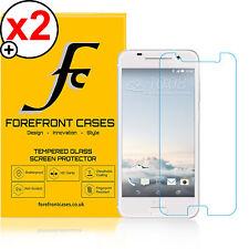 2x Forefront Fundas 9h HD Protector de pantalla de cristal templado Htc Uno A9