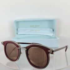 aa9e223af0b Brand New Authentic Karen Walker Sunglasses BOUNTY Burgundy Silver 47mm  Frame