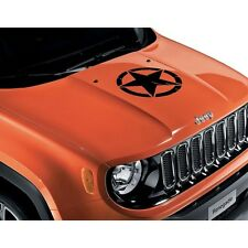 Jeep Renegade Bonnet Decal Vinyl Sticker US Army Star Black New Genuine 71807397