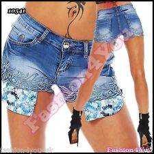 Sexy Ladies Jeans Shorts Women's Summer Denim Hot Pants Size 6,8,10,12,14 UK