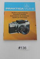 Pentacon Praktica VLC 2 Bedienungsanleitung Manual Instructions #167