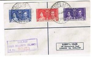 1937 - Solomon Islands Coronation set on - Cover