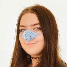 Nose Warmer. Sky Blue Wool. FREE P&P Secret Santa, Design Registered