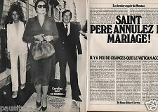 Coupure de presse Clipping 1980 Caroline et Grace de Monaco  (3 pages)