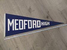 Medford Massachusetts Mass MA High School Vintage Felt Pennant Flag Football