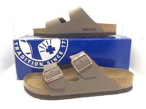 BIRKENSTOCK Women Arizona Mocca Brown Birko Flor Sandal Shoe Sz 7 EU38 ZB7-33