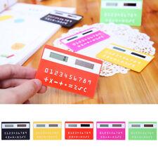 Ultra Thin Solar Power Pocket Calculator Travel Slim Portable Credit Card Shape
