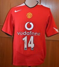MANCHESTER UNITED 2004-06 HOME SHIRT 14 SIGNED ALAN SMITH LARGE