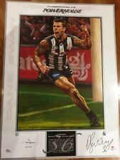 Collingwood Dane Swan Signed Jamie Cooper Print, signed by artist and player.