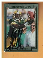 Sterling Sharpe AUTOGRAPH 1990 ACTION PACK FOOTBALL CARD SIGNED GREEN BAY