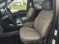 2015-2018 Ford F-150 XLT Super Crew Cab Katzkin Leather Seat Medium Earth Gray