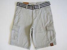 NWT Men's Canvas Cargo Shorts 30W +Woven Belt Guys Boy's Bermuda Pants MSRP $44.