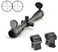 Visionking 4-16x44 Mil-dot Hunting Tactical Rifle scope Mounting Rings .308 3006