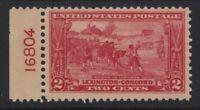 1925 Sc 618 Lexington-Concord MNH plate number Hebert CV $29