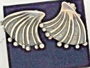 Vintage 1960s David Andersen silver 'Innovative Space' earrings by Marianne Berg