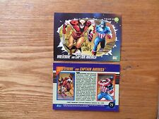 1992 MARVEL UNIVERSE III WOLVERINE & CAPT AMERICA CARD SIGNED LEE WEEKS,WITH POA