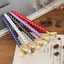 5PCS Big Carat Diamond Crystal Pen Gem Ballpoint Pen Ring Wedding Office Me G4M9